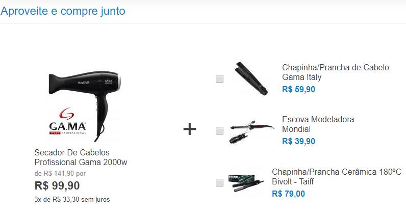exemplo de cross-selling no e-commerce
