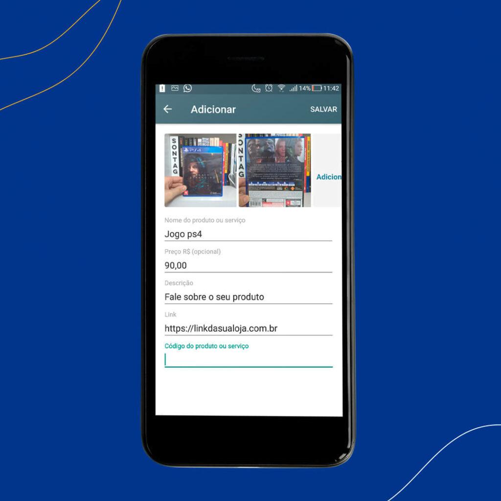 print mostra como criar catálogo de produtos para vender no whatsapp business