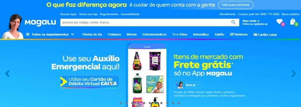 campanha magalu compras de supermercado