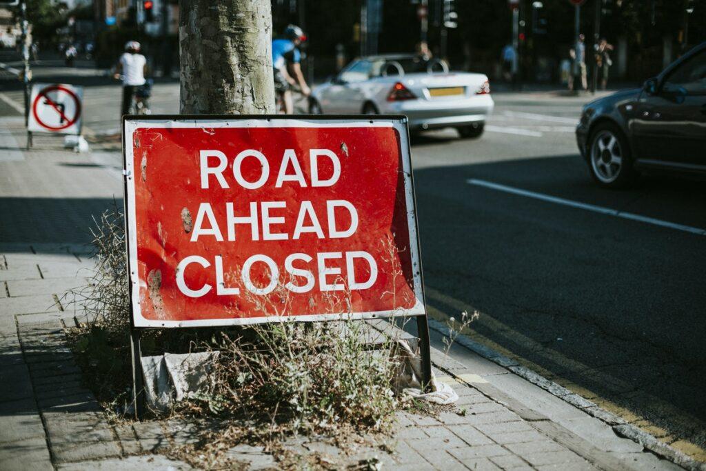 fechamento de estradas