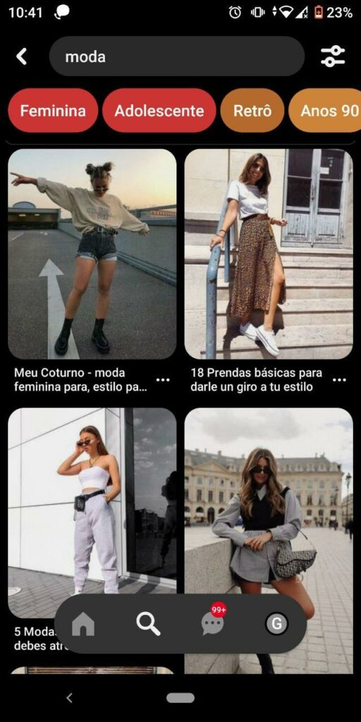 Moda no Pinterest