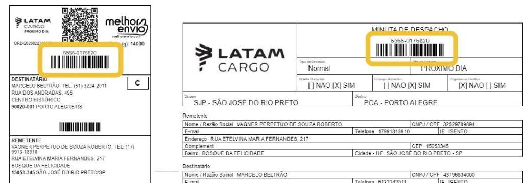 Despacho LATAM Cargo