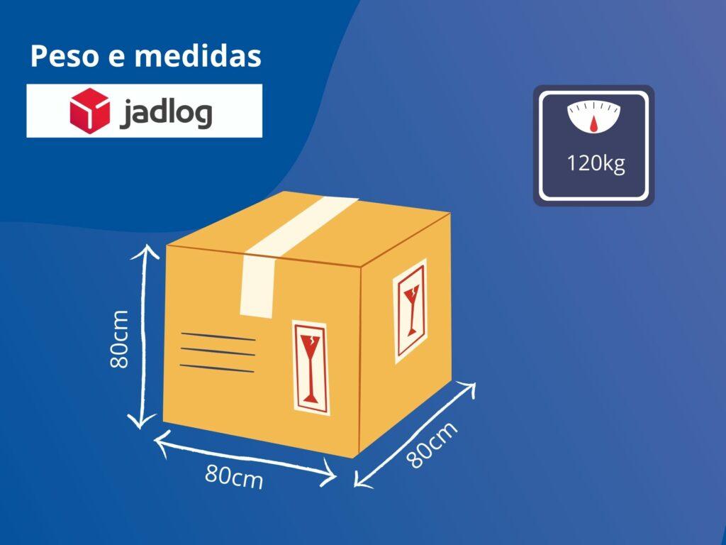 Peso e medidas de embalagens para postagem na transportadora Jadlog