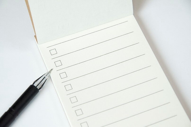 checklist da black friday melhor envio imagem de um caderno de notas