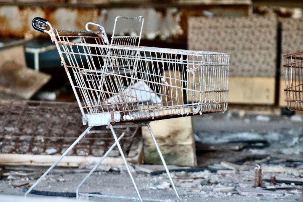 Carrinho de compras abandonado, fazendo referência a uma das métricas para e-commerce.