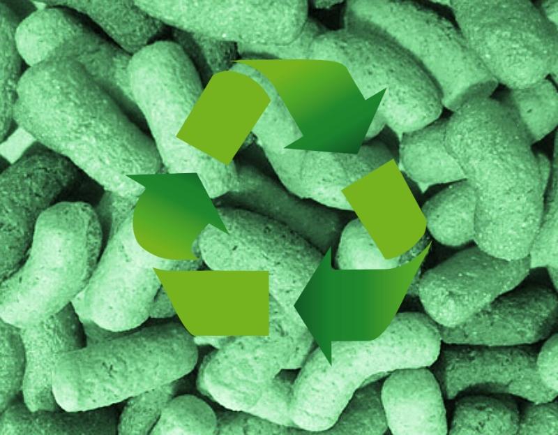 Conhecido como Bio Pack, o extrusado de milho é uma alternativa biodegradável ao plástico-bolha e pode ser usado para preencher caixas e proteger produtos