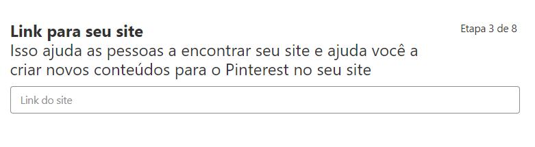 print pinterest link para o seu site