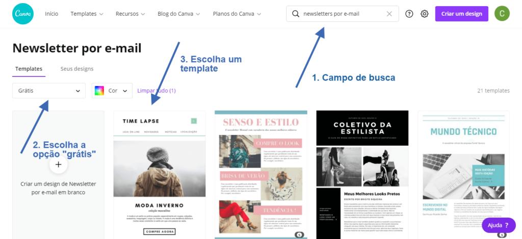 como usar o Canva para criar newsletter